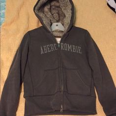 Abercrombie & Fitch Fur Zip Up Hoodie Brand new listing! Abercrombie & Fitch Sweaters