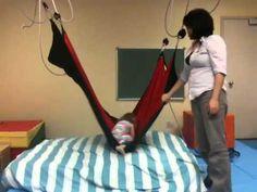 Pediatric Sensory Gym - Lycra climbing swing - YouTube
