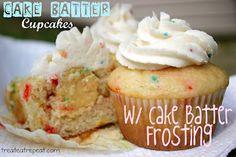 Cake Batter Cupcakes w/ Cake Batter Frosting!