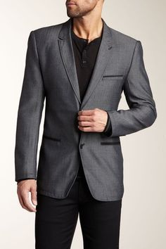 Sovereign Code First Try Blazer in Grey Herringbone gray