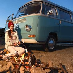 Don't forget your marshmallows #69campers #camping #campfire #vwbus #vanlife #vanlifers #gooutside #goatworthy #aircooled #vw…