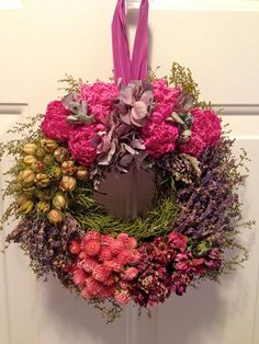 Dried Flower Wreath/ Dried Floral Wreath/Dried Peonies and Hydrangea Wreath