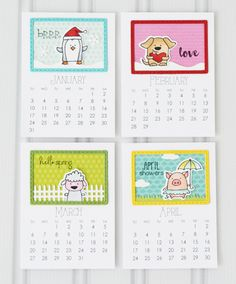 2015 Taylored Expressions  just three products designed to coordinate perfectly with our 2016 3x4 Calendar; Calendar Critters & coordinating dies and Build a Scene - Calendar.