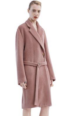 Acne Studios Elga Hairy Dusty Pink Robe inspired coat