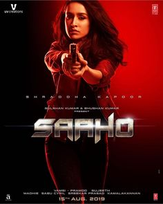 Shraddha Kapoor Saaho First Look Poster. Shraddha Kapoor and Prabhas will be seen starring in Saaho. It is an upcoming Indian action thriller film written and Telugu Movies Download, Download Free Movies Online, Tamil Movies, Hindi Movies, Comedy Movies, Movie Film, Bollywood Celebrities, Bollywood Actress, Movies Bollywood