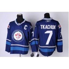 Reebok Keith Tkachuk Winnipeg Jets #7 Third Stitched Hockey Jersey - Blue_Keith Tkachuk Jersey
