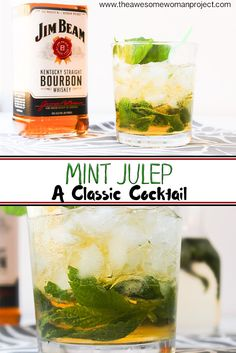 When most people think of a mint julep, they think of the Kentucky Derby, but I think of Disneyland!! That's where I first heard of a mint julep when I was ten years old -- of course they were virgin drinks back then. These classic drinks, though, are full of bourbon, and are perfect on a hot summer day!