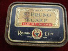 Vintage Collectable Tobacco Tin : Ogden s St Bruno Flake Empire Blend  c.1950 s