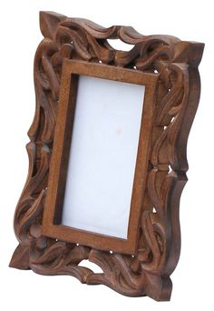 enigmatic moments hand carved 4x6 wooden photo frame picture holder with