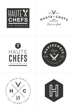 Haute Chefs Branding Process | Design by Breanna Rose