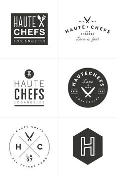 Haute Chefs Branding Process | Design by Breanna Rose