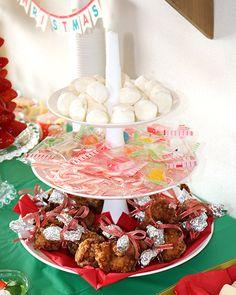 チューリップチキン クリスマスパーティー料理 キッズパーティー演出