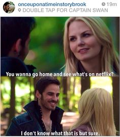 CAN I JUST SAY THAT I LOVE HOOK, HES SO HAPPY THAT SHE WANTS TO SPEND TINE WITH HIM. THE FEELS HURT