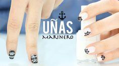 Diseños de uñas marinero