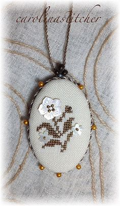 Necklace turned into an ornament