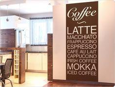 Wandtattoo Kaffee Banner für die Küche - Coffee