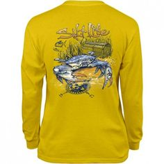 Blue Crab Long Sleeve Youth Tee