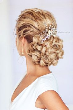 """Universe of goods - Buy """"Pearl Women Hair Combs Wedding Hair Accessories Hair Pin Rhinestone Tiara Bridal Clips Crystal Crown Bride Hair Jewelry for only USD. Wedding Hairstyles For Long Hair, Hair Comb Wedding, Wedding Updo, Wedding Hair And Makeup, Wedding Hair Accessories, Bridal Hair, Bridal Gown, Evening Hairstyles, Wedding Headpieces"""