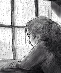 Latest Images sad drawing rain Ideas : Digital pulling tools, older shading training books, painting them occasions in bars. Fine art can be getting a comebac Sad Drawings, Girl Drawing Sketches, Dark Art Drawings, Art Drawings Sketches Simple, Pencil Art Drawings, Drawing Ideas, Art Triste, Drawing Rain, Art Du Croquis