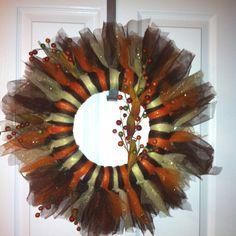 Fall Tulle Wreath :)