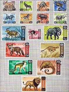 Postage Stamps of Kenya 1966 Animals Complete Set Fine Used
