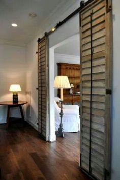 Sliding shutters as doors