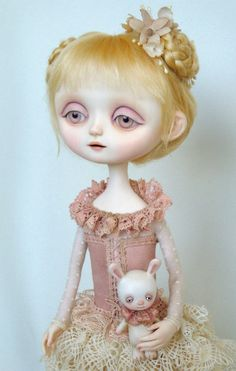 Pink Alice - Original doll by Ana Salvador