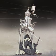 White Dressing Nier Automata ,looks also awesome Manga Anime, Manga Art, Anime Art Fantasy, Fantasy Girl, Character Design References, Game Character, Nier Automata 2, Susanoo, Game Costumes