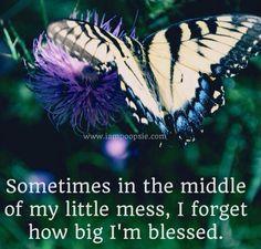Blessed quote via www.IamPoopsie.com