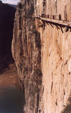 El Camino Del Rey, Spain. The most dangerous hike I've ever heard of.
