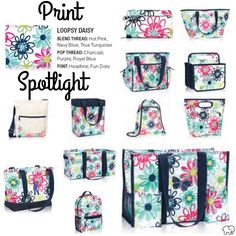 Print Spotlight for Spring/Summer 2017 Thirty-One - Loopsy Daisy #newcatalog #Carrie31Bags