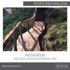 Massaranduba is a South American hardwood which is a very durable and hardwearing timber. It works very well as an outdoor decking material as it is rated highly against rot and insect attack. Decking Material, Timber Deck, Kruger National Park, Hardwood, World, Outdoor Decor, Beautiful, Natural Wood, The World