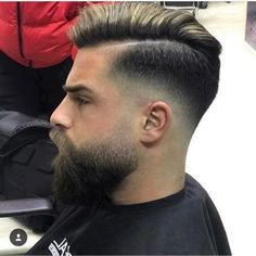 20 Best Taper Haircuts for Men - Men's Hairstyles Taper Fade + Medium Combover Beard And Mustache Styles, Beard Styles For Men, Beard No Mustache, Hair And Beard Styles, Short Hair Styles, Faded Beard Styles, Bart Styles, Bald Men With Beards, Long Beards