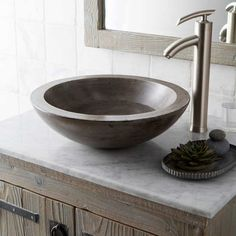 Buy the Native Trails Ash Direct. Shop for the Native Trails Ash Morro NativeStone Vessel Bathroom Sink and save. Bathroom Sink Bowls, Stone Bathroom Sink, Concrete Bathroom, Stone Sink, Bowl Sink, Bathroom Ideas, Basement Bathroom, Bathroom Designs, Office Bathroom