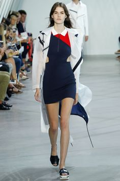 Lacoste - New York Fashion Week SS 16. Sugestão #FocusTextil: Malha Compact Flat #malharia #esportivo #olimpiada #FocusTextil
