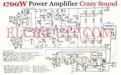 1700W power amplifier crazy sound output