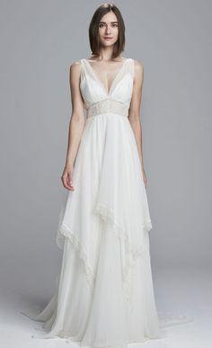 robe pour mariage sur la plage longue