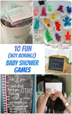 10 FUN (not boring!) Baby Shower Games #babyshower #babyshowergames
