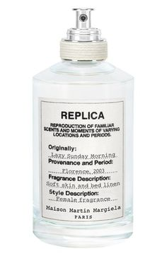 Maison Martin Margiela 'Replica - Lazy Sunday Morning' Fragrance available at Nordstrom. Replica Perfume, Maison Martin Margiela Replica, Perfume Floral, Lazy Sunday Morning, Perfume Reviews, Perfume Collection, Makeup Collection, Perfume Oils, Luxury Beauty