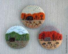 Felt Embroidery, Hand Embroidery Designs, Felt Keychain, Felt Coasters, Felt Pouch, Christmas Sewing Projects, Stitch Witchery, Lavender Bags, Felt Art