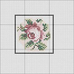 Open House Miniatures - Royal School of Needlework Charted Roase Mini Cross Stitch, Cross Stitch Rose, Cross Stitch Flowers, Cross Stitch Embroidery, Diy Doll Miniatures, Cross Stitch Designs, Barbie Furniture, Needlepoint, Minis