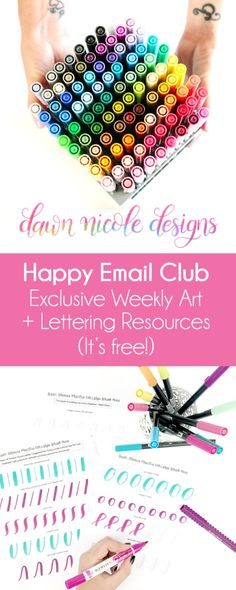 Join the Happy Email Club!Sign up for instant access to my free Happy Email Club, a resource library full of exclusive Art + Lettering goodies.