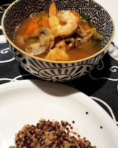 Shrimp Vegetables soup with quinoa. #foodstagram #foodpics #foodstyling #foodporn #foodie #healthy #healthylife #healthyfood #healthychoices #healthyeating #instafood #instagood #yummy #delicious #lunch #cooking #cookforlife #momfood #momcooking #followme