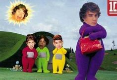 What on earth<< this must have been made after Harry compared them to teletubbies. These were the good old day fandom days, when all we had to worry about was our use of Photoshop and ni and Lou getting more solos