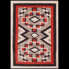#antique #Navajo #rug. Stock Id: #21702 General Rug Type:      American Specific Rug Type:      Navajo Circa: 1940 Color: Multi Origin: USA Width: 4' 0'' ( 121.9 cm ) Length: 5' 8'' ( 172.7 cm )
