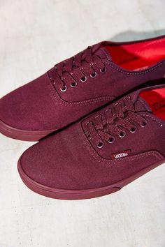 vans mono red authentic band
