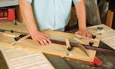 [Click for full-size] Learn how to build a custom tablesaw sled that delivers perfect picture frames, ever time.