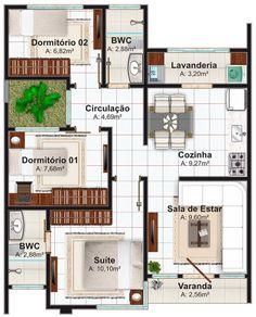 plano de casa 70 m2 3 dormitorios planos gratis de casas
