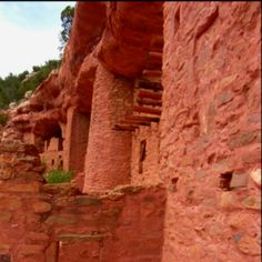 Manitou cliff dwellings, Manitou Springs Colorado This is a small complex that is neat to see how they built their homes in the red cliffs.