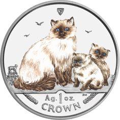 2007 - Ragdoll Cat - Coloured Proof Fine Silver Coin